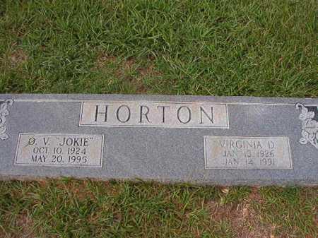 HORTON, VIRGINIA D - Dallas County, Arkansas   VIRGINIA D HORTON - Arkansas Gravestone Photos