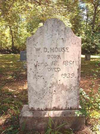 HOUSE, W D - Dallas County, Arkansas | W D HOUSE - Arkansas Gravestone Photos