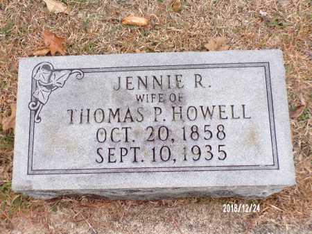 HOWELL, JENNIE R - Dallas County, Arkansas | JENNIE R HOWELL - Arkansas Gravestone Photos