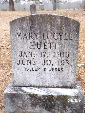 HUETT, MARY LUCYLE - Dallas County, Arkansas   MARY LUCYLE HUETT - Arkansas Gravestone Photos
