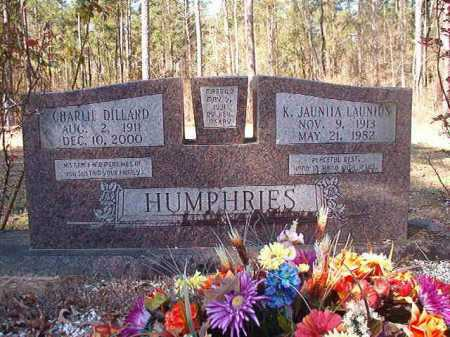 LAUNIUS HUMPHRIES, K JAUNITA - Dallas County, Arkansas | K JAUNITA LAUNIUS HUMPHRIES - Arkansas Gravestone Photos