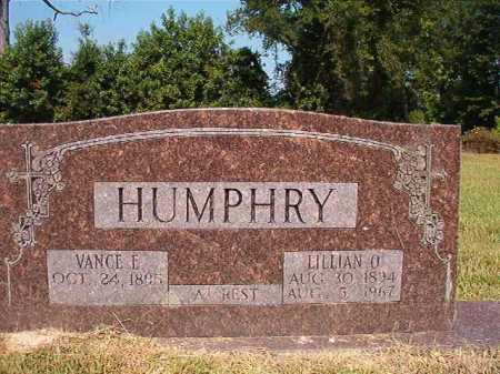 HUMPHRY, VANCE E - Dallas County, Arkansas | VANCE E HUMPHRY - Arkansas Gravestone Photos