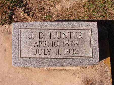 HUNTER, J D - Dallas County, Arkansas | J D HUNTER - Arkansas Gravestone Photos