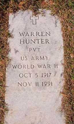 HUNTER (VETERANWWII), WARREN - Dallas County, Arkansas | WARREN HUNTER (VETERANWWII) - Arkansas Gravestone Photos