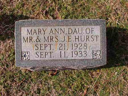 HURST, MARY ANN - Dallas County, Arkansas   MARY ANN HURST - Arkansas Gravestone Photos
