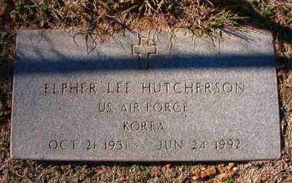 HUTCHERSON (VETERAN KOR), ELPHER LEE - Dallas County, Arkansas | ELPHER LEE HUTCHERSON (VETERAN KOR) - Arkansas Gravestone Photos
