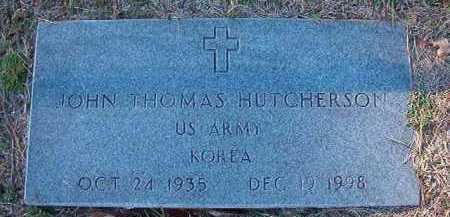 HUTCHERSON (VETERAN KOR), JOHN THOMAS - Dallas County, Arkansas | JOHN THOMAS HUTCHERSON (VETERAN KOR) - Arkansas Gravestone Photos