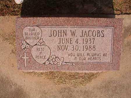JACOBS, JOHN W - Dallas County, Arkansas | JOHN W JACOBS - Arkansas Gravestone Photos