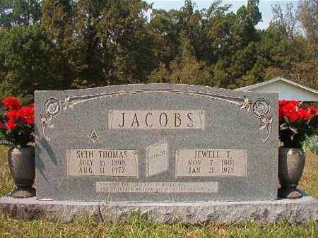 JACOBS, JEWELL T - Dallas County, Arkansas | JEWELL T JACOBS - Arkansas Gravestone Photos