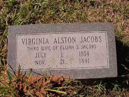 ALSTON JACOBS, VIRGINIA - Dallas County, Arkansas | VIRGINIA ALSTON JACOBS - Arkansas Gravestone Photos