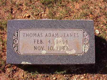 JEANES, THOMAS ADAM - Dallas County, Arkansas | THOMAS ADAM JEANES - Arkansas Gravestone Photos