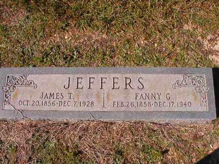 JEFFERS, JAMES T - Dallas County, Arkansas | JAMES T JEFFERS - Arkansas Gravestone Photos