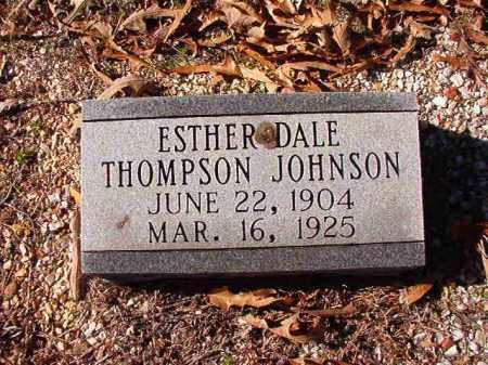 JOHNSON, ESTHER DALE - Dallas County, Arkansas   ESTHER DALE JOHNSON - Arkansas Gravestone Photos