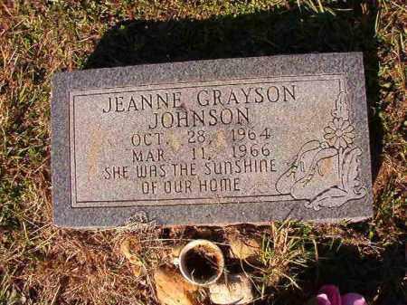 JOHNSON, JEANNE GRAYSON - Dallas County, Arkansas   JEANNE GRAYSON JOHNSON - Arkansas Gravestone Photos