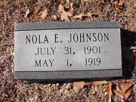 JOHNSON, NOLA E - Dallas County, Arkansas | NOLA E JOHNSON - Arkansas Gravestone Photos