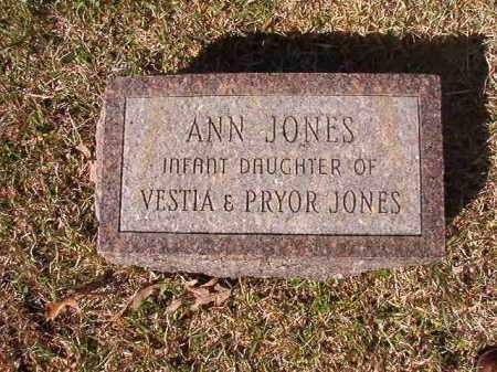 JONES, ANN - Dallas County, Arkansas   ANN JONES - Arkansas Gravestone Photos