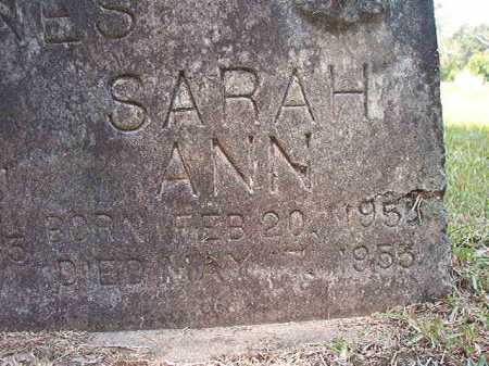 JONES, SARAH ANN - Dallas County, Arkansas   SARAH ANN JONES - Arkansas Gravestone Photos