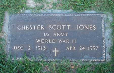 JONES (VETERAN WWII), CHESTER SCOTT - Dallas County, Arkansas | CHESTER SCOTT JONES (VETERAN WWII) - Arkansas Gravestone Photos