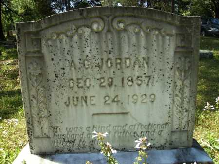 JORDAN, A G - Dallas County, Arkansas   A G JORDAN - Arkansas Gravestone Photos