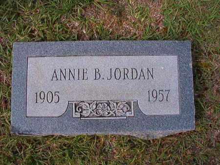 JORDAN, ANNIE B - Dallas County, Arkansas   ANNIE B JORDAN - Arkansas Gravestone Photos