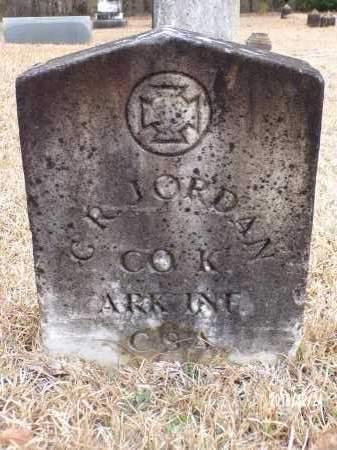 JORDAN (VETERAN CSA), G R - Dallas County, Arkansas | G R JORDAN (VETERAN CSA) - Arkansas Gravestone Photos
