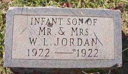 JORDAN, INFANT SON - Dallas County, Arkansas   INFANT SON JORDAN - Arkansas Gravestone Photos