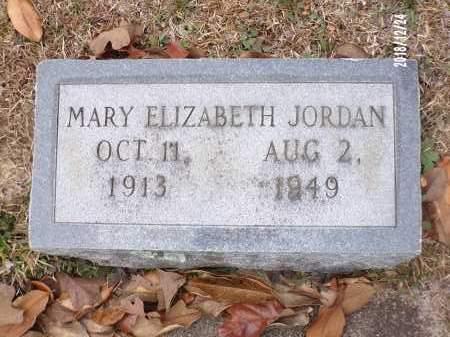 JORDAN, MARY ELIZABETH - Dallas County, Arkansas   MARY ELIZABETH JORDAN - Arkansas Gravestone Photos