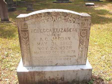 JORDAN, REBECCA ELIZABETH - Dallas County, Arkansas   REBECCA ELIZABETH JORDAN - Arkansas Gravestone Photos