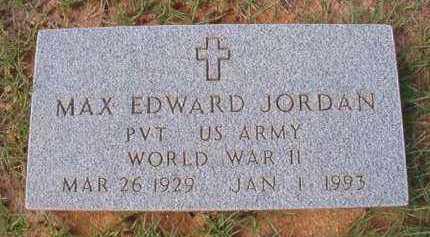 JORDAN (VETERAN WWII), MAX EDWARD - Dallas County, Arkansas   MAX EDWARD JORDAN (VETERAN WWII) - Arkansas Gravestone Photos