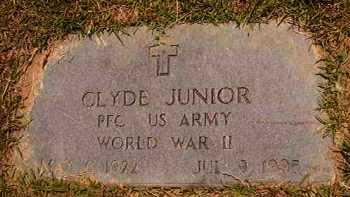 JUNIOR (VETERAN WWII), CLYDE - Dallas County, Arkansas   CLYDE JUNIOR (VETERAN WWII) - Arkansas Gravestone Photos