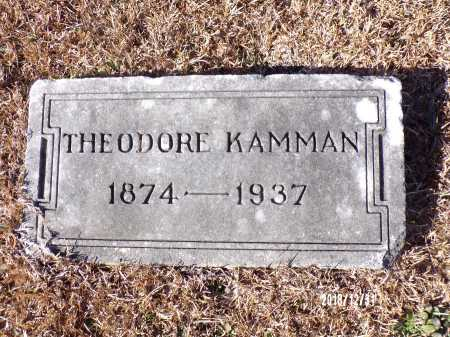 KAMMAN, THEODORE - Dallas County, Arkansas | THEODORE KAMMAN - Arkansas Gravestone Photos