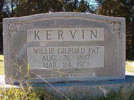"KERVIN, WILLIE GILFORD ""PAT"" - Dallas County, Arkansas 