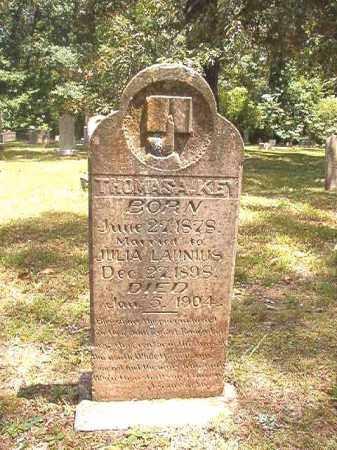 KEY, THOMAS A - Dallas County, Arkansas | THOMAS A KEY - Arkansas Gravestone Photos