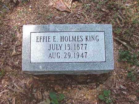 HOLMES KING, EFFIE E - Dallas County, Arkansas | EFFIE E HOLMES KING - Arkansas Gravestone Photos