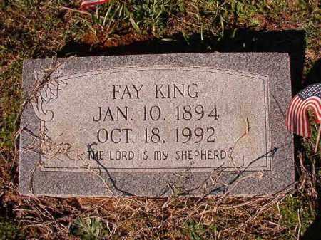 KING, FAY - Dallas County, Arkansas   FAY KING - Arkansas Gravestone Photos