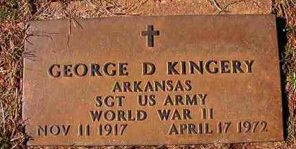 KINGERY (VETERAN WWII), GEORGE D - Dallas County, Arkansas | GEORGE D KINGERY (VETERAN WWII) - Arkansas Gravestone Photos