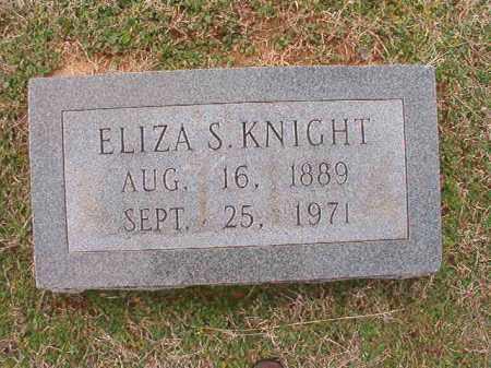 KNIGHT, ELIZA S - Dallas County, Arkansas | ELIZA S KNIGHT - Arkansas Gravestone Photos