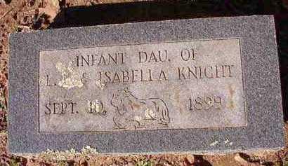KNIGHT, INFANT DAUGHTER - Dallas County, Arkansas   INFANT DAUGHTER KNIGHT - Arkansas Gravestone Photos