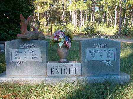 NUSSEY KNIGHT, FLORENCE - Dallas County, Arkansas | FLORENCE NUSSEY KNIGHT - Arkansas Gravestone Photos
