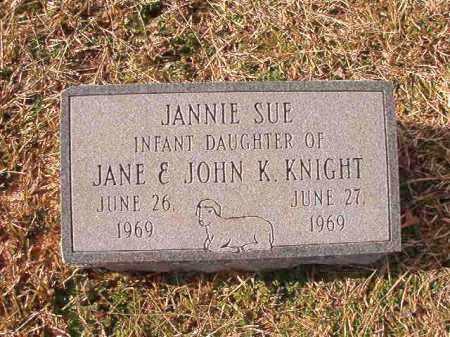 KNIGHT, JANNIE SUE - Dallas County, Arkansas | JANNIE SUE KNIGHT - Arkansas Gravestone Photos