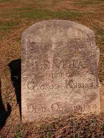 KNIGHT, LEATHA - Dallas County, Arkansas   LEATHA KNIGHT - Arkansas Gravestone Photos
