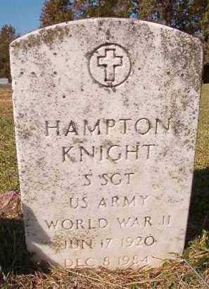 KNIGHT (VETERAN WWII), HAMPTON - Dallas County, Arkansas | HAMPTON KNIGHT (VETERAN WWII) - Arkansas Gravestone Photos