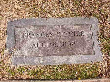 KOONCE, FRANCES - Dallas County, Arkansas | FRANCES KOONCE - Arkansas Gravestone Photos