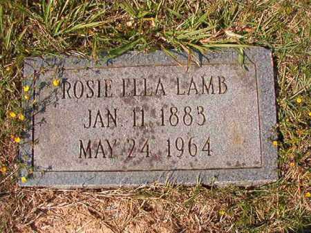 LAMB, ROSIE ELLA - Dallas County, Arkansas | ROSIE ELLA LAMB - Arkansas Gravestone Photos