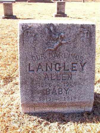LANGLEY, ALLEN - Dallas County, Arkansas | ALLEN LANGLEY - Arkansas Gravestone Photos