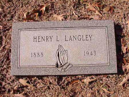 LANGLEY, HENRY L - Dallas County, Arkansas | HENRY L LANGLEY - Arkansas Gravestone Photos