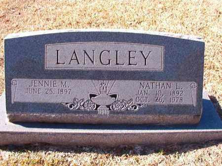 LANGLEY, JENNIE M - Dallas County, Arkansas | JENNIE M LANGLEY - Arkansas Gravestone Photos