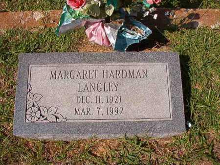 HARDMAN LANGLEY, MARGARET - Dallas County, Arkansas | MARGARET HARDMAN LANGLEY - Arkansas Gravestone Photos