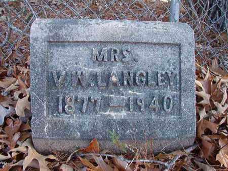 LANGLEY, MRS., V W - Dallas County, Arkansas | V W LANGLEY, MRS. - Arkansas Gravestone Photos