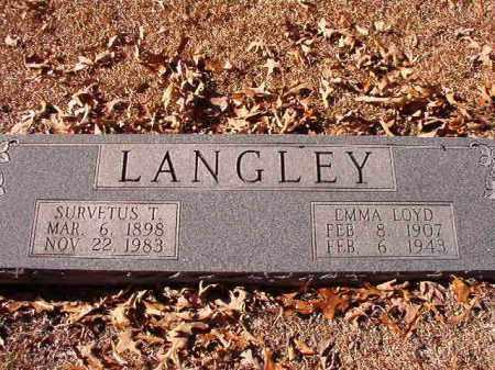 LOYD LANGLEY, EMMA - Dallas County, Arkansas   EMMA LOYD LANGLEY - Arkansas Gravestone Photos